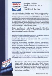 Autoryzacja Bosch Car Service dla Franpol